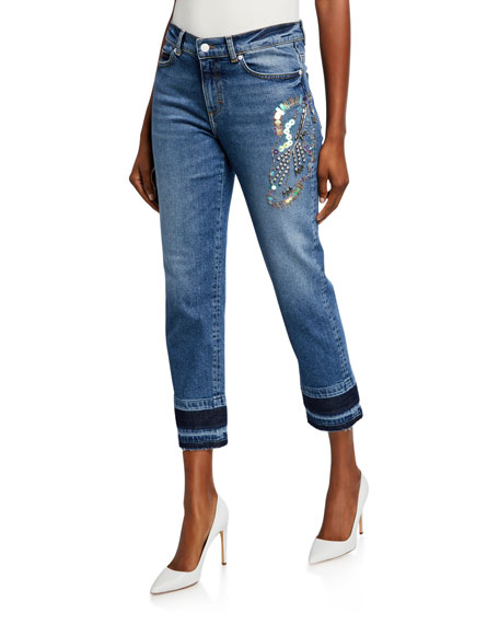 Escada Sport J106 Sequined Straight-Leg Jeans