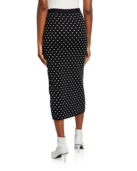 Escada Sport Rome Dotted-Knit Midi Skirt