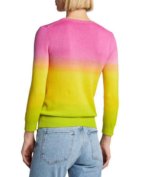 Image 2 of 3: Ralph Lauren Collection Cashmere Dip-Dyed 3/4-Sleeve Sweater