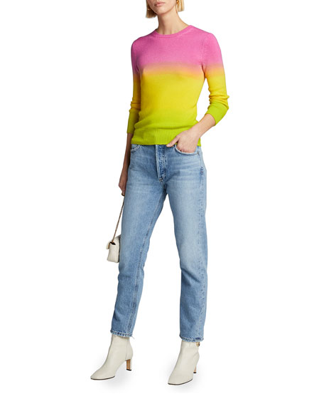 Image 3 of 3: Ralph Lauren Collection Cashmere Dip-Dyed 3/4-Sleeve Sweater
