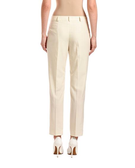 Agnona Wool Straight-Leg Lined Pants