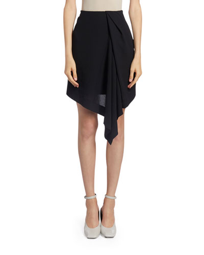 Chiffon Asymmetric-Front Mini Skirt