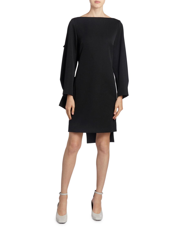 Nina Ricci Twisted-Back Wool Crepe Mini Dress