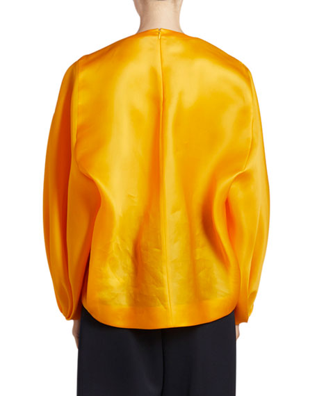 Nina Ricci Silk Long-Sleeve Top