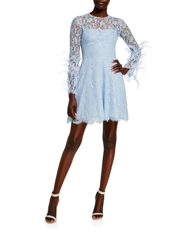 Zuhair Murad Cadix Feathered Mini Dress