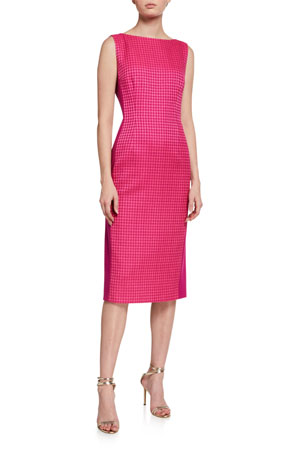 Escada Houndstooth Classic Sheath Dress