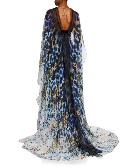 Image 2 of 2: Zuhair Murad Long Dress With Cape