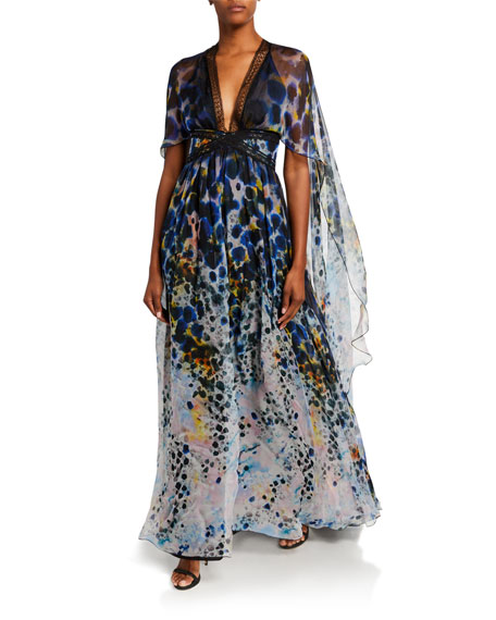Image 1 of 2: Zuhair Murad Long Dress With Cape
