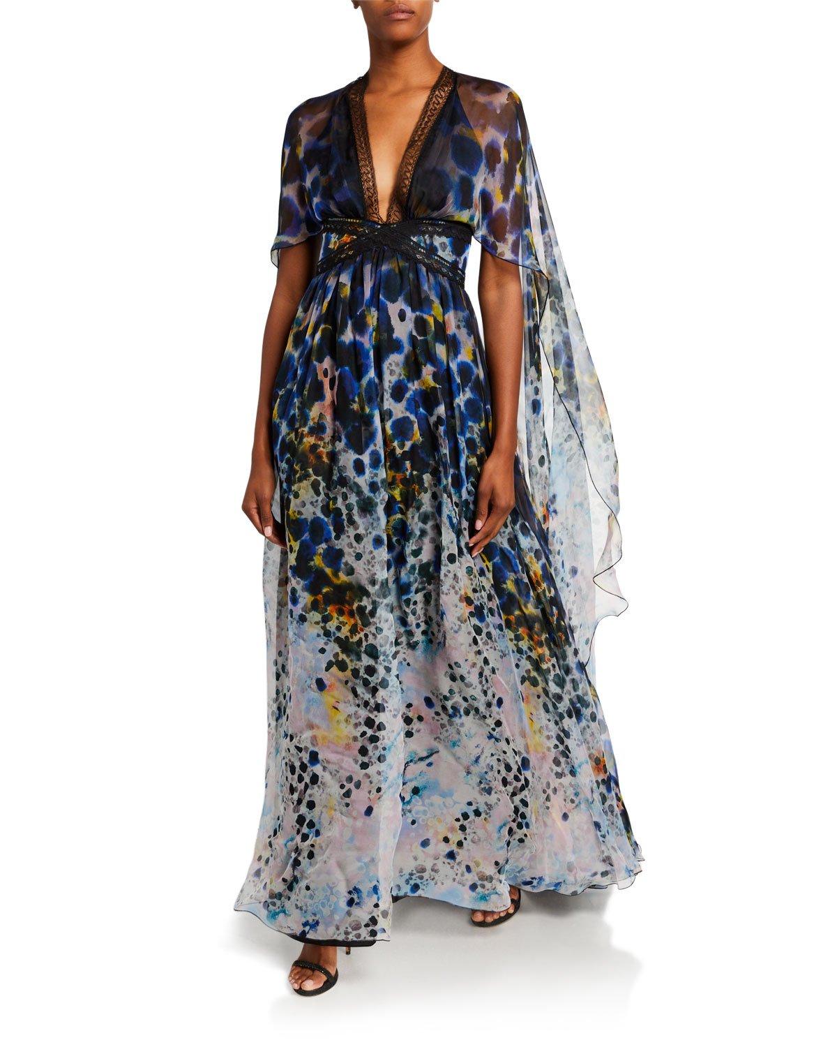 Zuhair Murad Long Dress With Cape