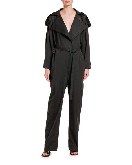 Bottega Veneta Cotton Belted Shirt Jumpsuit