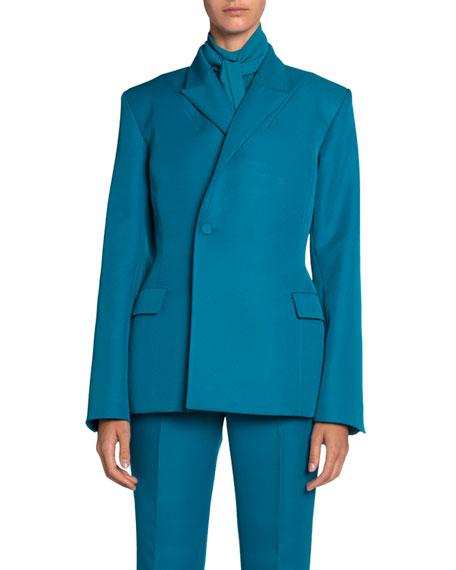 Balenciaga Tech Twill Double-Breasted Blazer Jacket