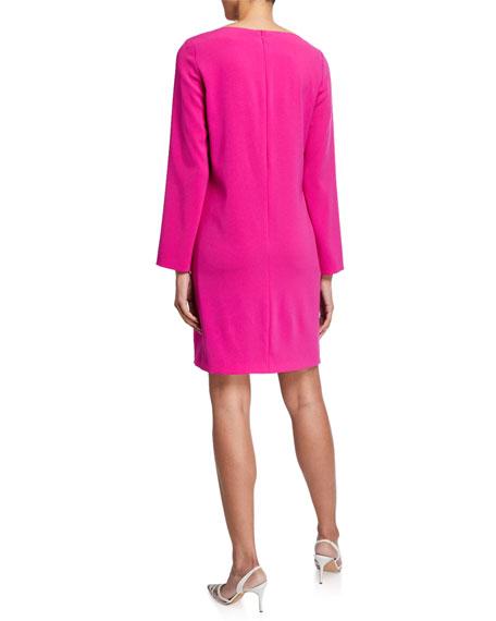 Escada Dehva Crepe Button-Sleeve Dress