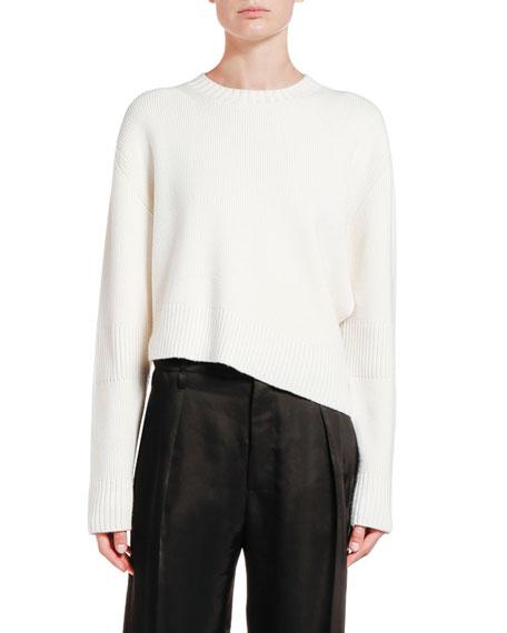 Bottega Veneta Wool Asymmetric Cutout Sweater