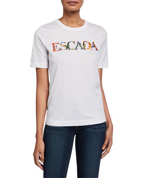 Escada Logo Embroidered Short-Sleeve Tee