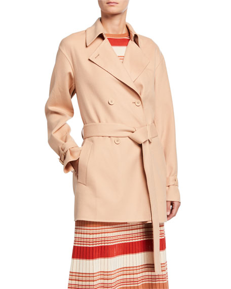 Image 1 of 3: Loro Piana Cashmere Double-Breasted Short Coat
