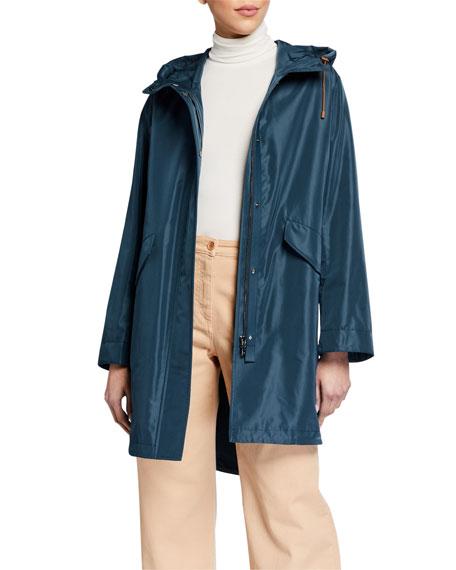 Loro Piana Hooded Cinched-Waist Raincoat