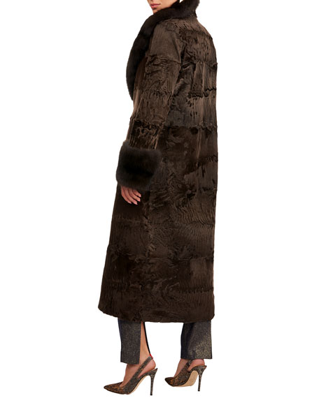 Pajaro Lamb Short Coat W/ Russian Sable Collar & Cuffs