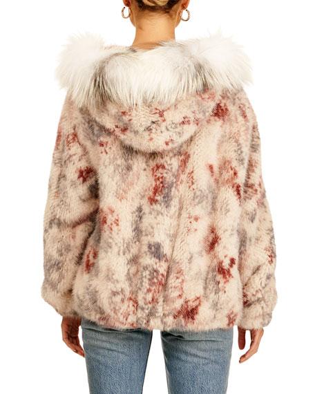 Gorski Mink Fur Zip-Front Jacket W/ Fox Trim