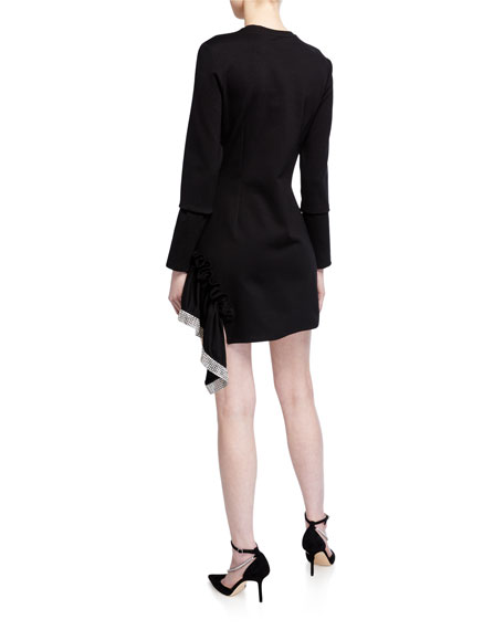 Area Crystal Peplum T-Shirt Dress