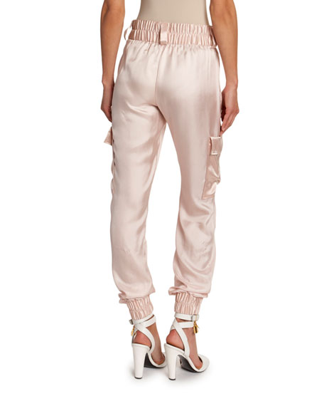 TOM FORD Lightweight Satin Cargo Jogger Pants