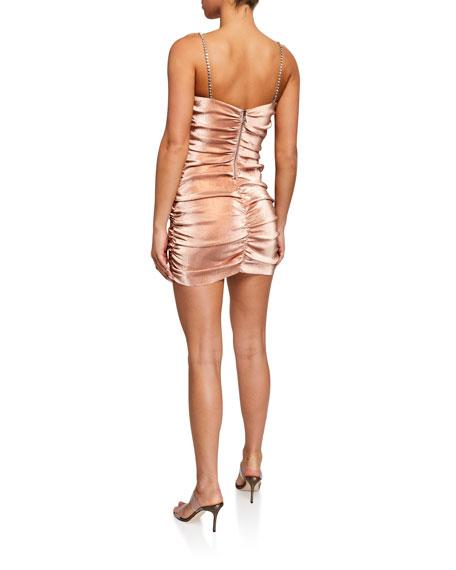 Area Shirred Mini Dress