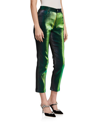 Iridescent Skinny Crop Pants