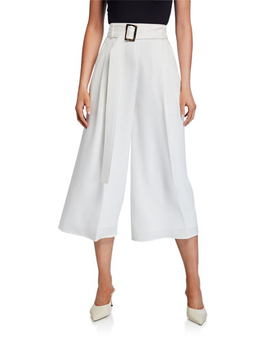 Crepe Belted Culottes