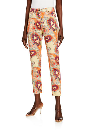 Etro Floral Skinny Ankle Jeans