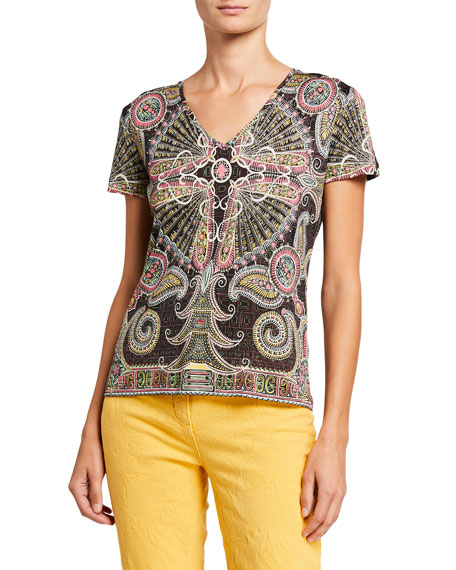 Etro Kaleidoscope Cotton Jersey T-Shirt