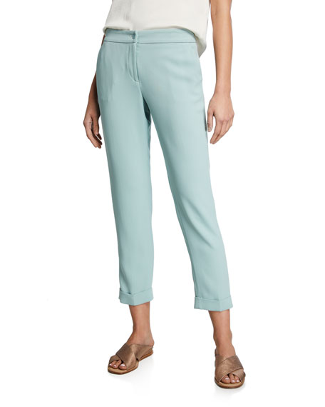 Image 1 of 3: Etro Cuffed Cady Capri Pants