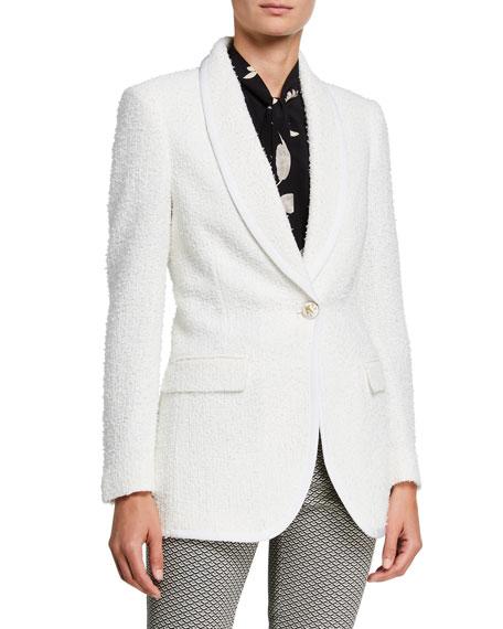 Etro Boucle One-Button Blazer