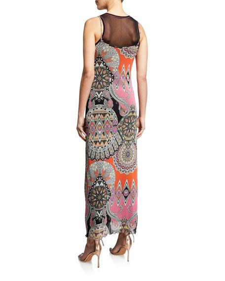 Etro Paisley-Print Mesh Dress