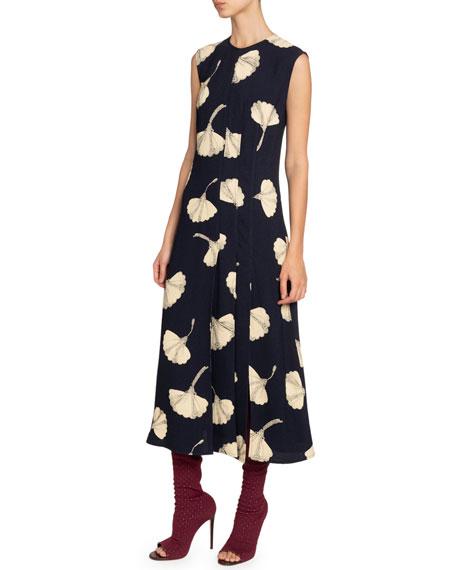 Victoria Beckham Silk Paneled Midi Dress