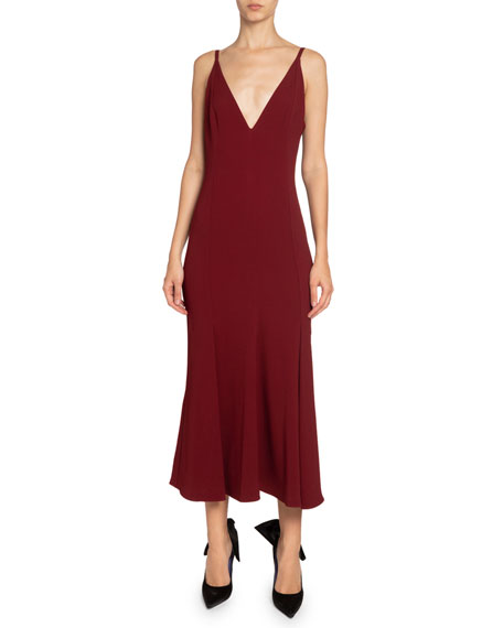 Victoria Beckham Cady Flared Midi Dress