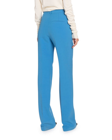 Image 2 of 2: Victoria Beckham Double Crepe Straight-Leg Pants