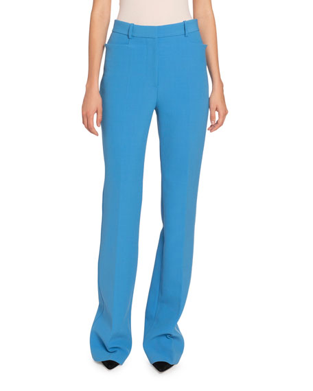 Image 1 of 2: Victoria Beckham Double Crepe Straight-Leg Pants