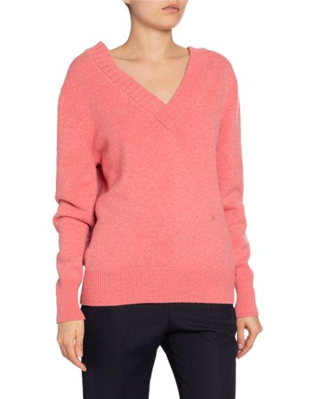 Victoria Beckham Stretch Cashmere V-Neck Sweater