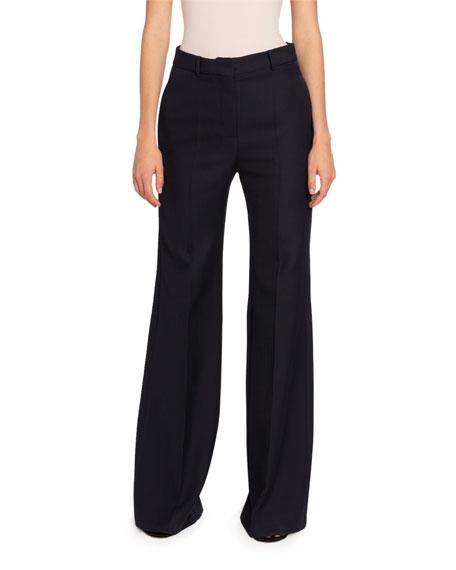 Victoria Beckham Wool High-Rise Wide Leg Pants