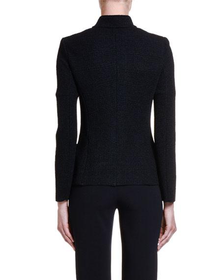Giorgio Armani Stretch-Melange Jersey Snap-Front Jacket