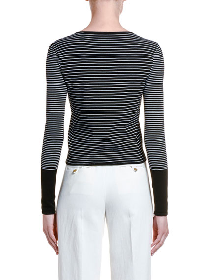 Giorgio Armani Colorblocked Striped Sweater
