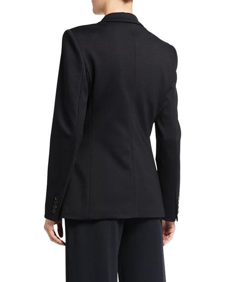 Maxmara Crepe Double-Breasted Jacket with Frayed Edges