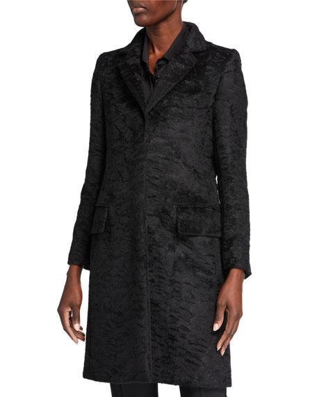 Maxmara Oncia Alpaca/Wool Crinkle Coat