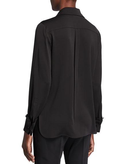 Maxmara Mogador Silk Button-Front Blouse