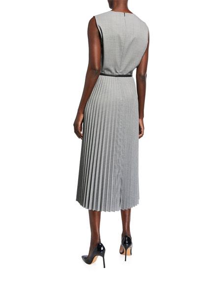 Maxmara Ariella Checked Wool Midi Dress
