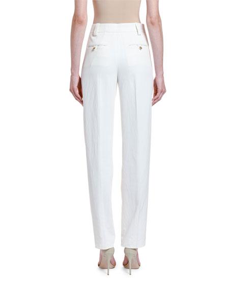 Giorgio Armani Cotton-Twill Straight-Leg Trousers