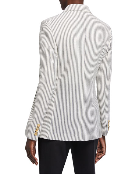 Maxmara Acerbo Ticking-Striped Blazer