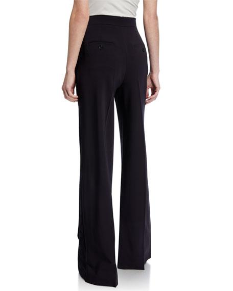 Maxmara Ultramarine Wool Crepe Trousers