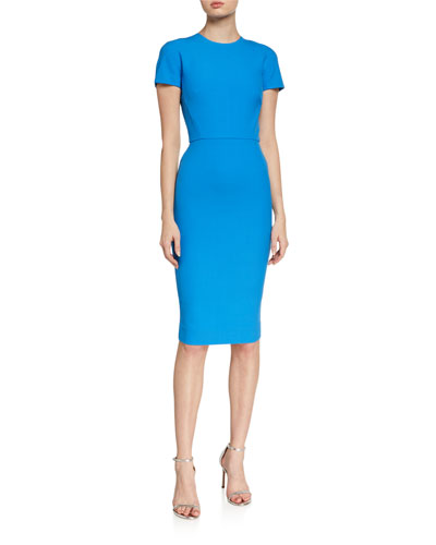 Crepe Short-Sleeve T-Shirt Dress