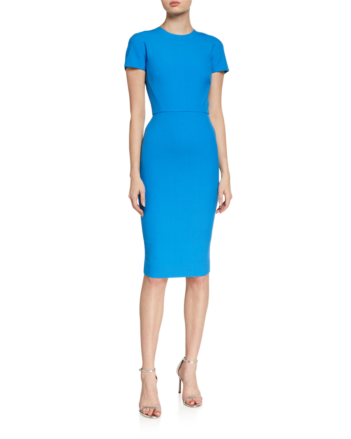 Victoria Beckham Crepe Short-Sleeve T-Shirt Dress