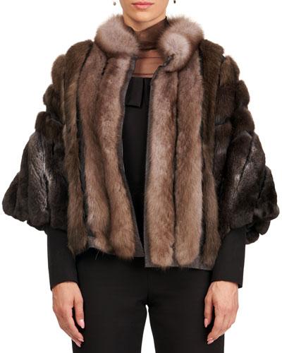 Sable And Chinchilla Fur Jacket